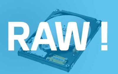 Disque en RAW